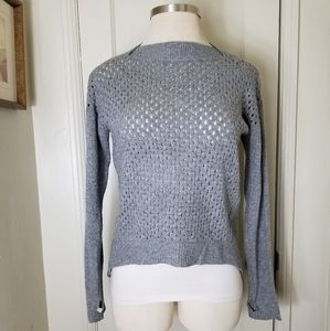 REBECCA TAYLOR wool cashmere gray sweater